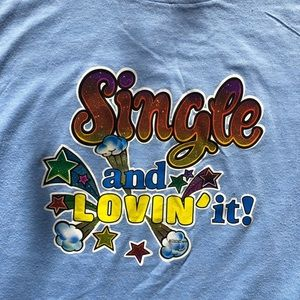 Vintage 1979 Single and Lovin it glitter decal